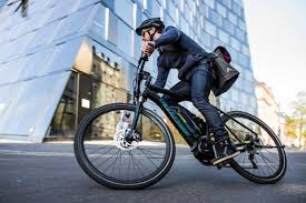 Man on an ebike